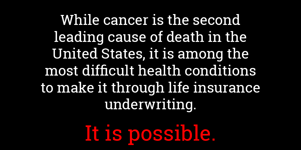 Life insurance for people with cancer