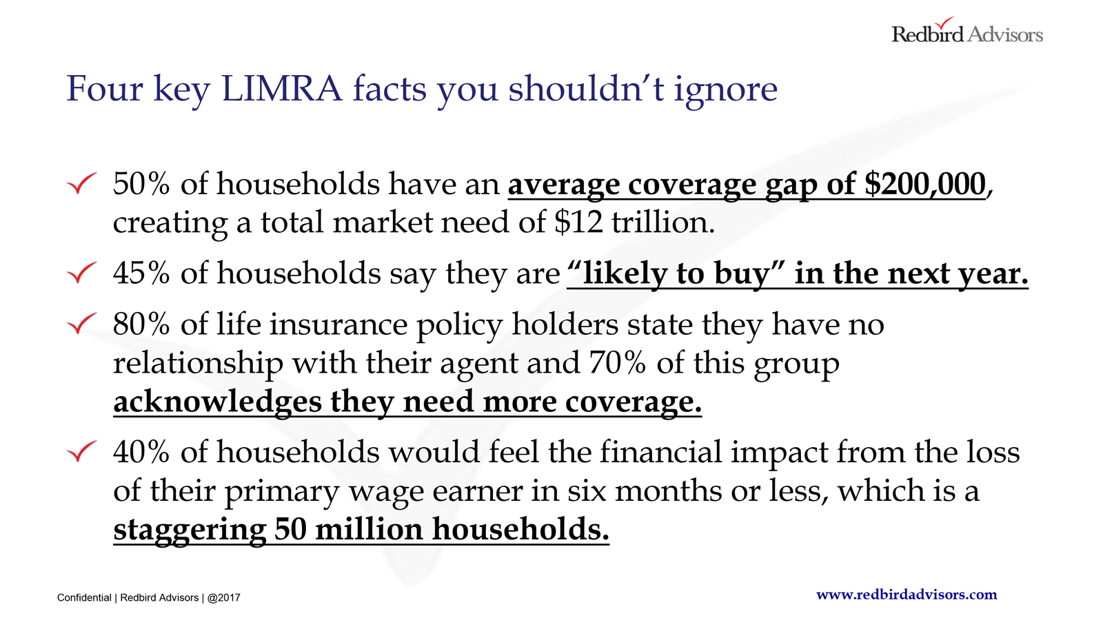 LIMRA - Four Key Facts You Should Not Ignore