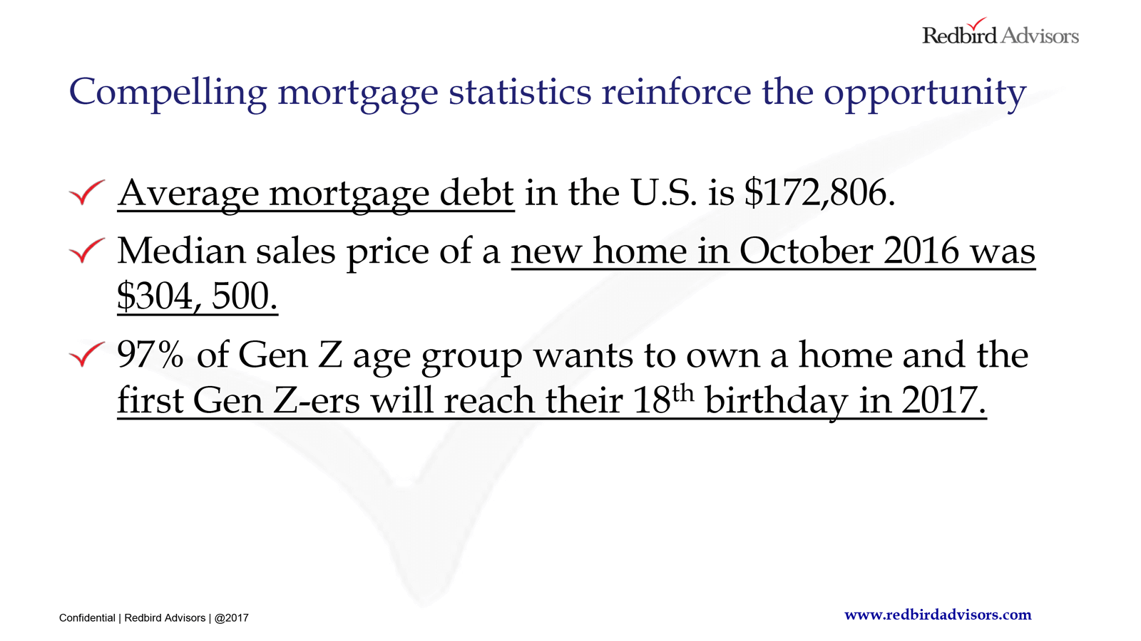 Compelling Mortgage Stats